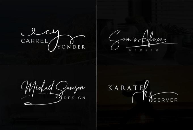 I will design modern signature logo in 24hrs