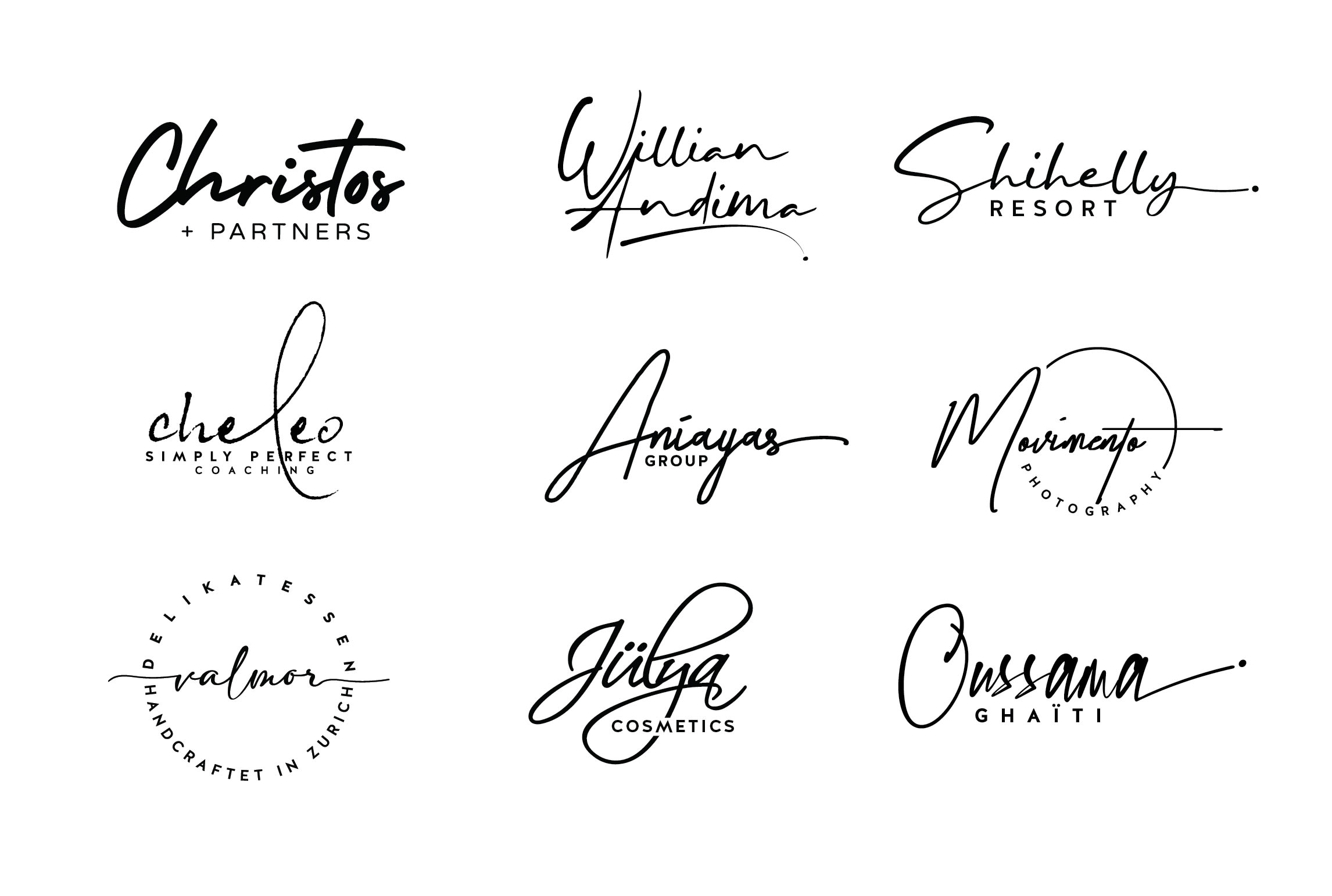 I will design 3 creative signature handwritten logo