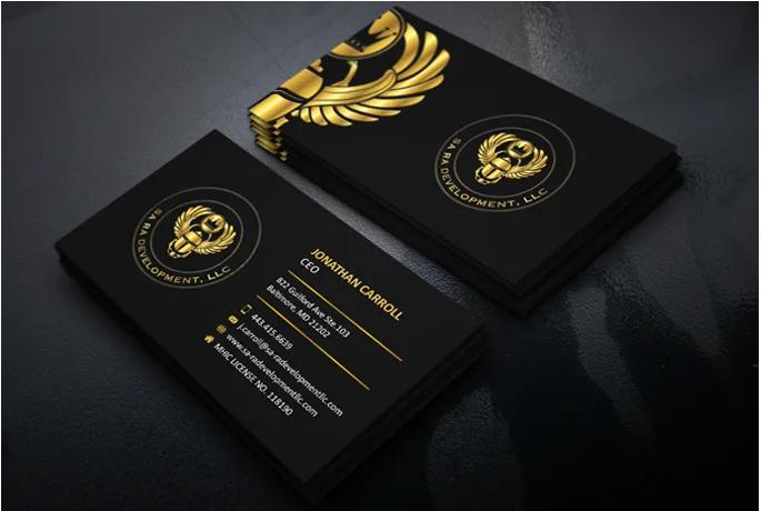 I will create a custom luxury business card design