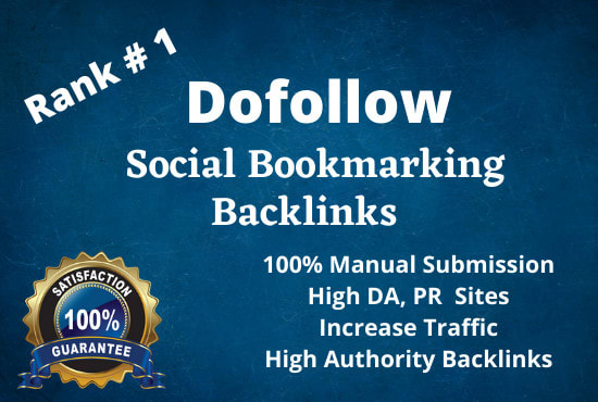 Build manually 100 social bookmarking submission backlinks