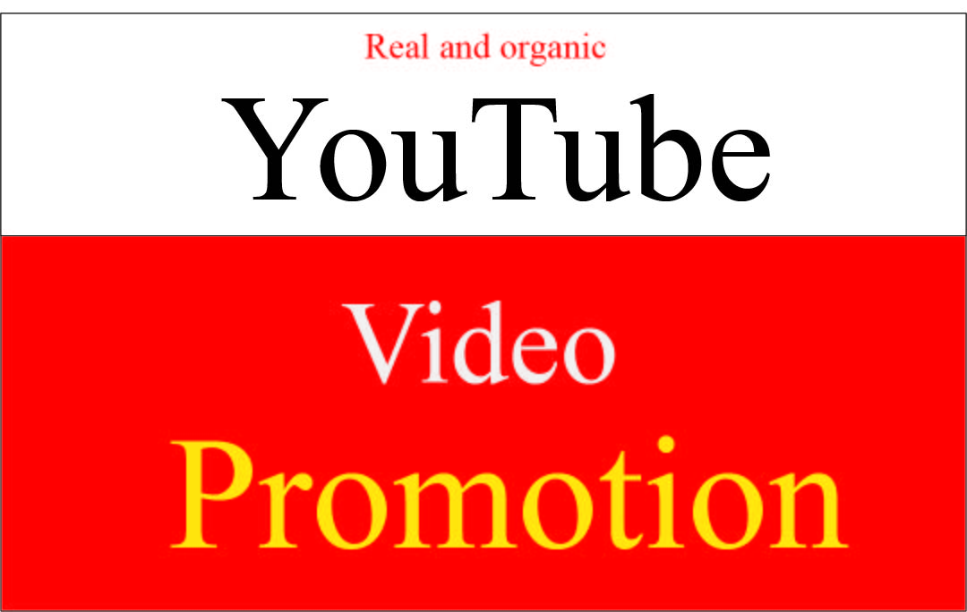I will do safe organic youtube video promotion for your video
