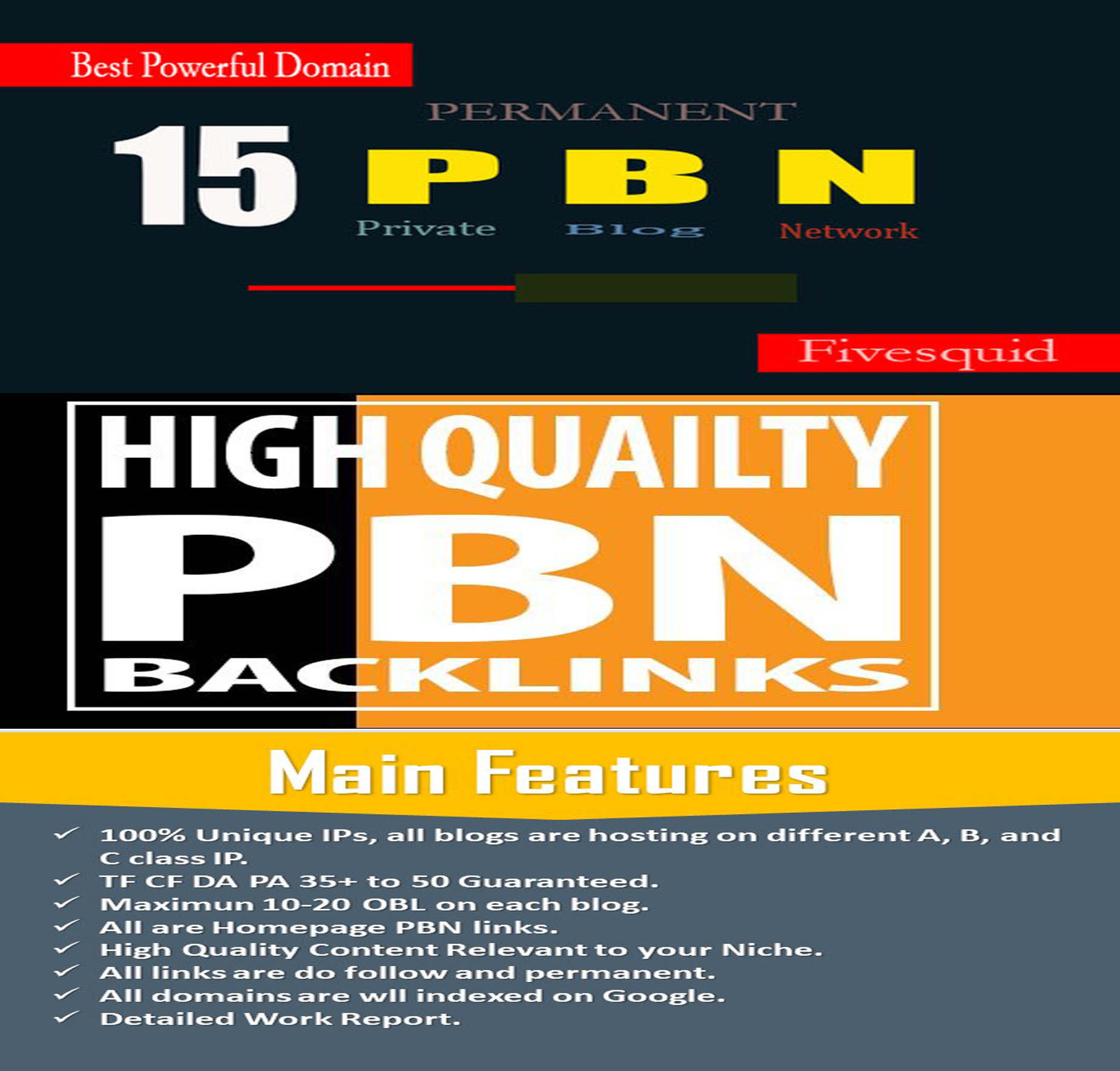 Build 15 High Quality PBN Permanent Backlinks And Boost Your Rank Up