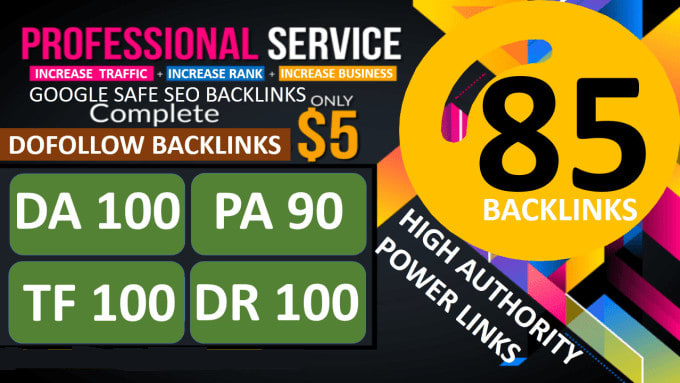 MANUALLY Do 85 UNIQUE PR9 SEO BackIinks On DA100-60 sites Plus Edu Links for