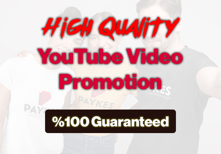 YouTube Video Promotion - HQ -100 Guaranteed