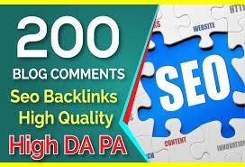 200 Blog Comments Seo Backlinks On High DA PA for 5