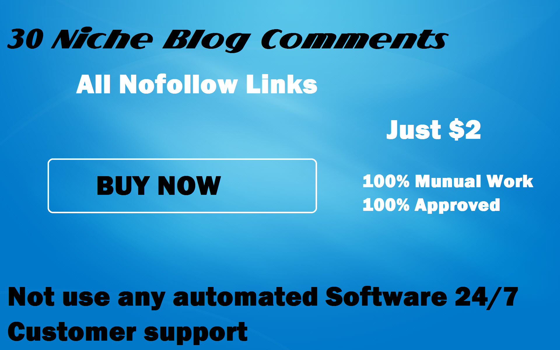 i will Provide 30 High quality Niche Relevant Blog Comments Backlinks