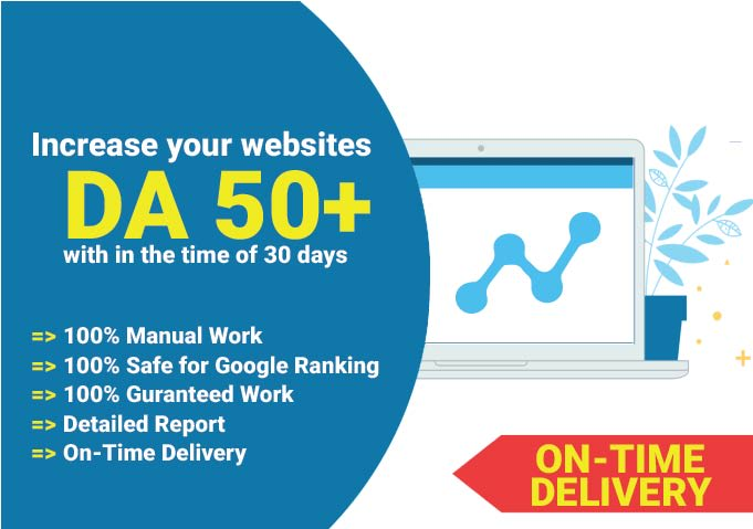 increase your website domain authority da to 50 plus