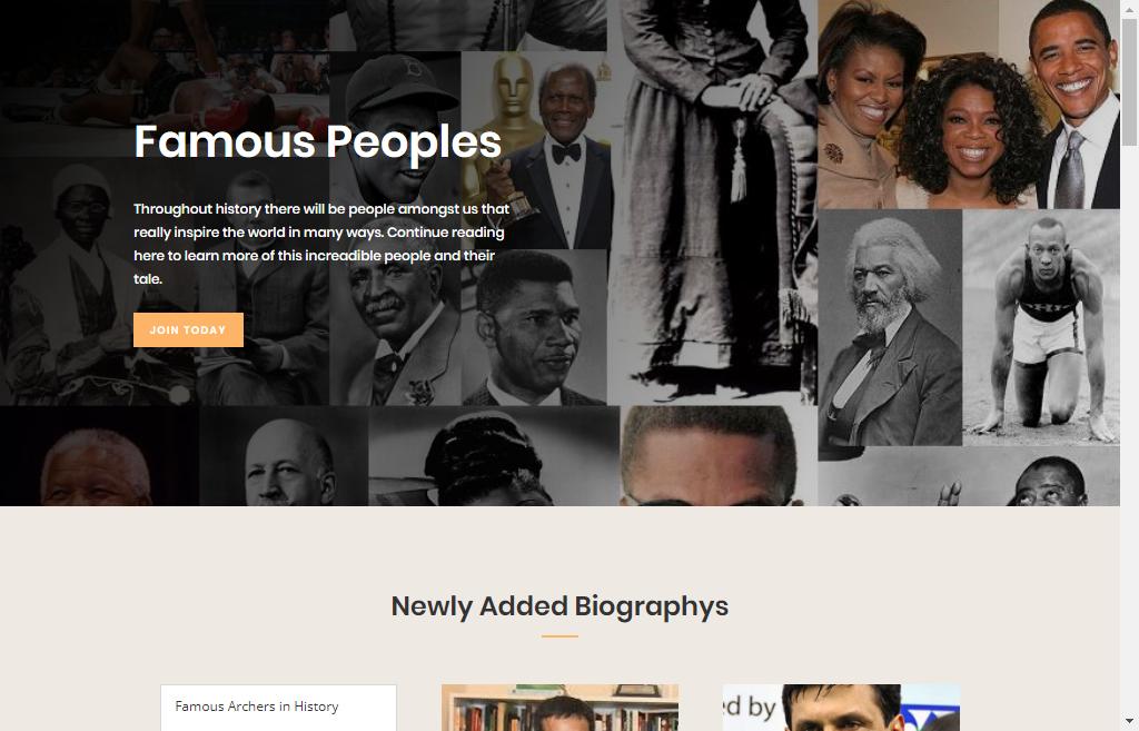 DA 20+ Biography Website Permanent Do-follow Link