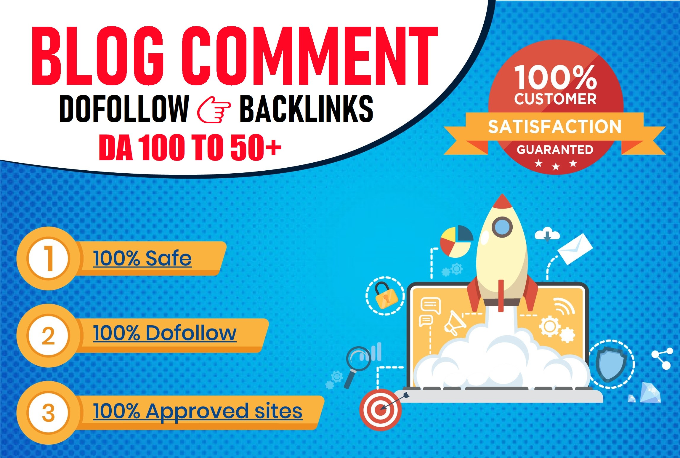 I will create 100 dofollow blog comments backlinks,  high da 50 plus