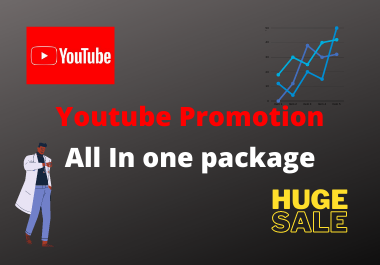 All in one Youtube promotion increase your youtube reach to world and youtube traffic