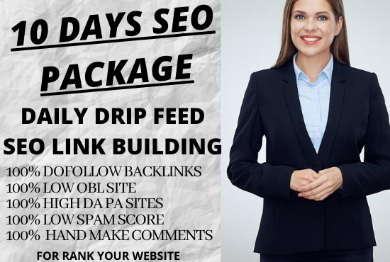 i will submit 10 days daily 50 dofollow blog comments backlinks in high DA sites with daily update