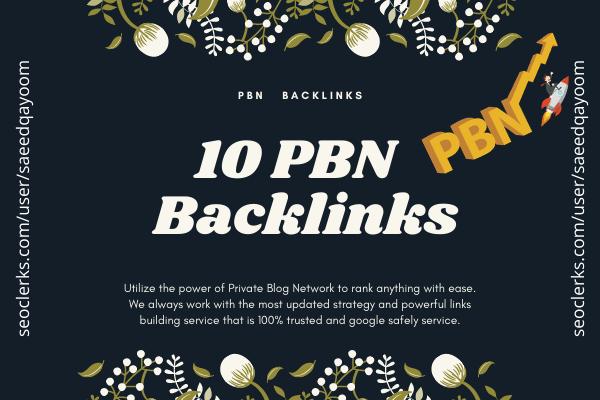 High Quality Permanent Contextual PBN Backlinks