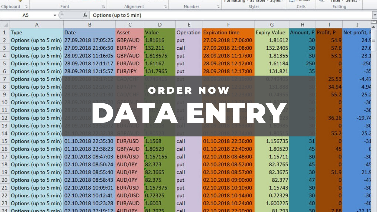 I will do fast Data entry in 5 hours,  excel data cleaning PDF to EXCEL