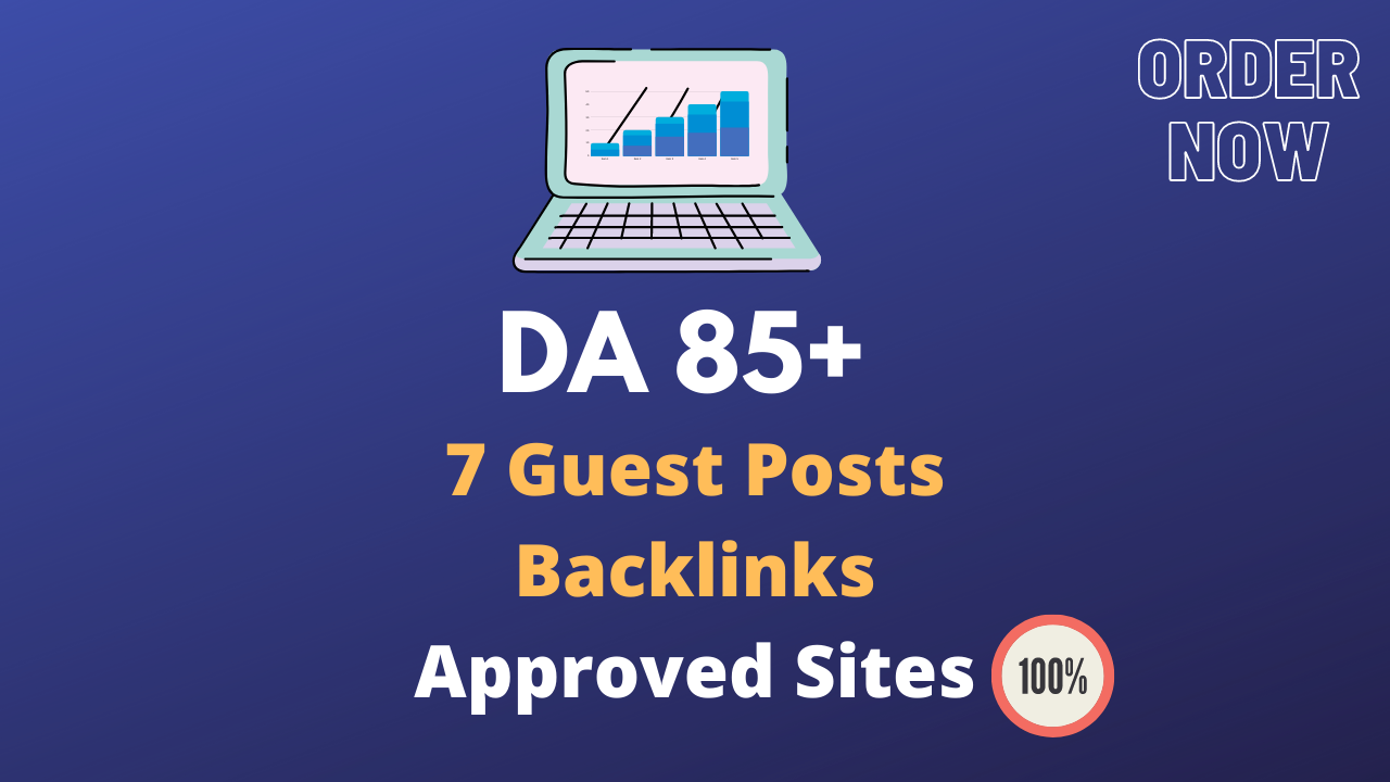 7 Guest Posts on High DA 85+ Approve Sites Permanent Links