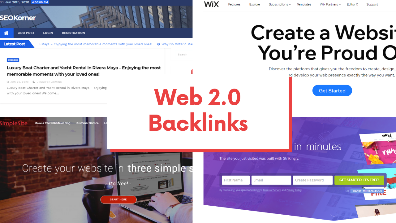 Manual 15 web 2.0 Backlinks for your Website