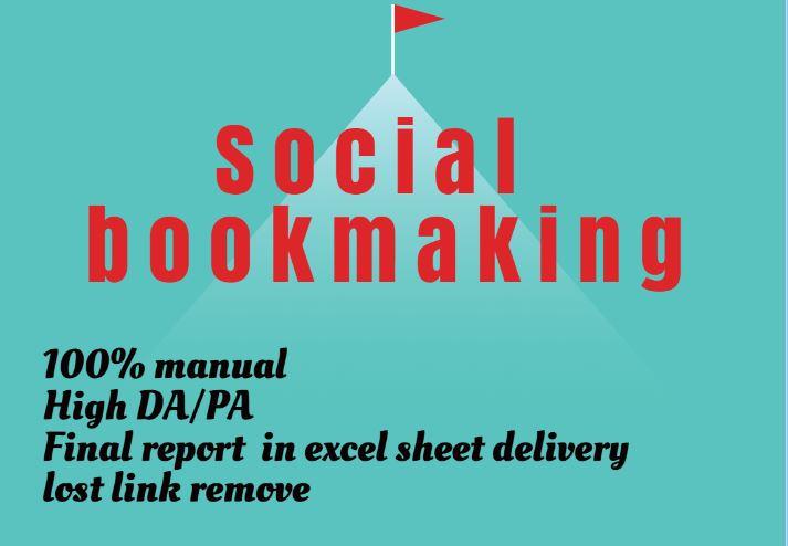 manually 40 pr10 social bookmark backlinks