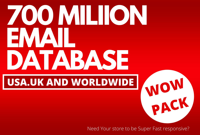 700 Million email Database USA/UK,  email leads usa,  business mailing lists,  wordpress mailing Databa