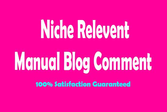 50 Niche Relevant blog Comments