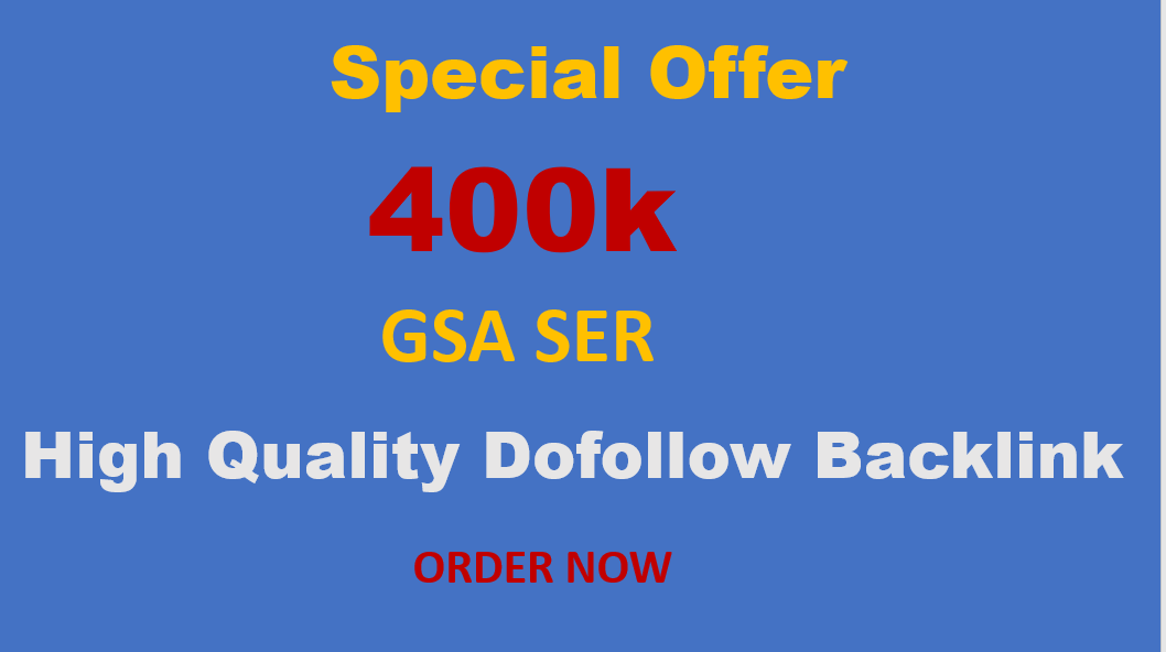 I will build 400000 dofollow SEO backlinks for website ranking on Google pages