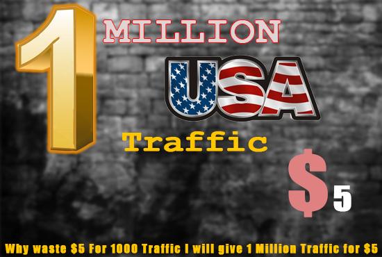 send a 1 million website traffic