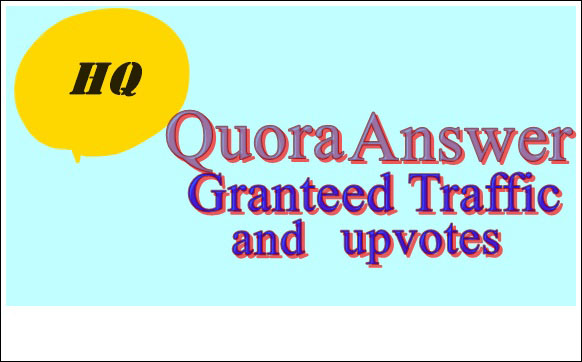 Provide Niche Relevant 25 Quora Answer for targeted traffic