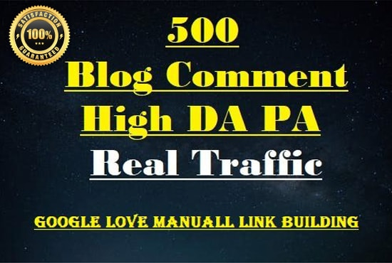 I will do 500 blog comments high DA PA dofollow high quality backlinks