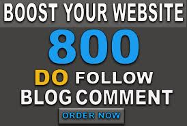 I will do 800 blog comments dofollow high DA PA low obl backlinks
