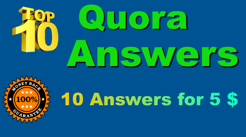 Get 10 quantity Quora Answers With Clickable Link