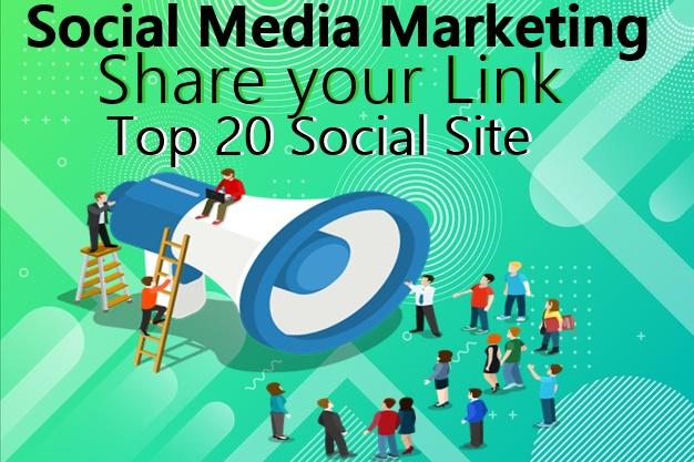 Share your Link Top 20 social media-Top website marketing service