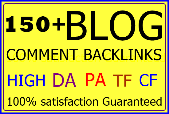 150+ Niche related blog comment Backlinks-Top service in Seocheckout