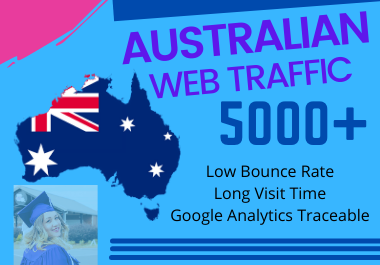 5,000+ Australian High Quality Web Traffic Google Analytics and low bounce Rate