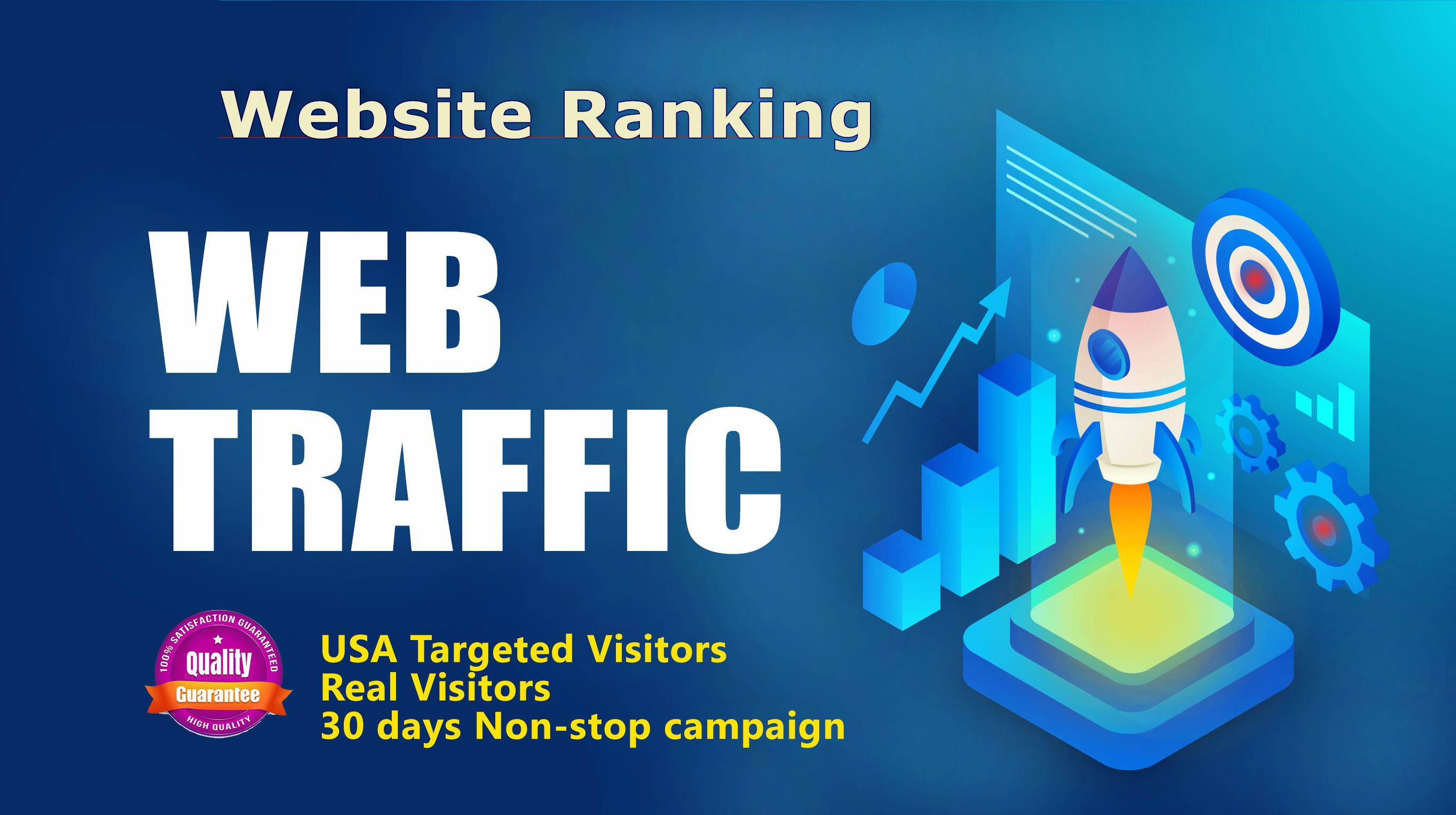 i will send 20,000+ USA/UK High Quality Ranking Website Traffic