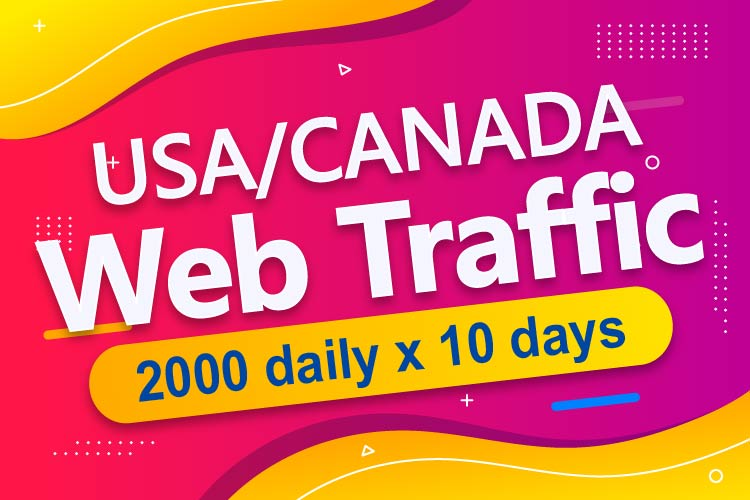 i will send 20,000+ USA/CANADA High Quality Ranking Website Traffic in 10 days