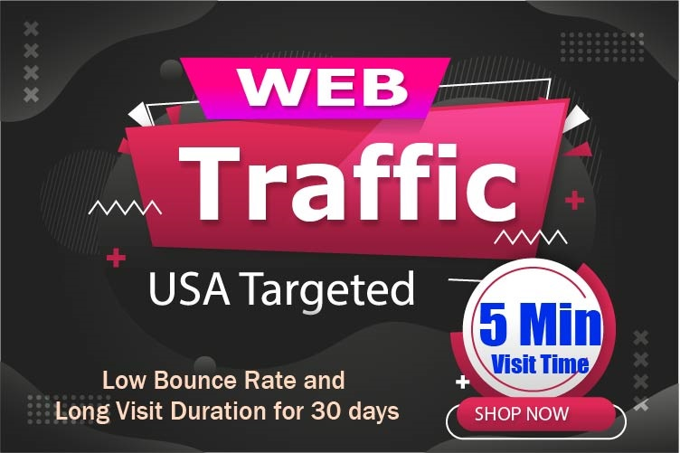 USA Targeted 5min visit time Website Traffic 30 days