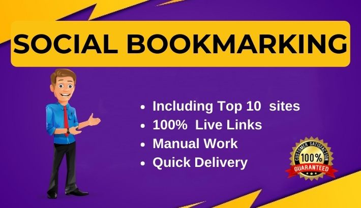 Manually 50 Social Bookmarking backlinks for website ranking