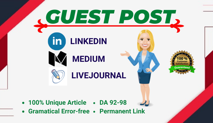 3 High Authority Indexable Guest posts SEO backlinks