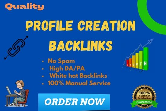 I will Provide 30 High quality Dofollow profile creation backlink