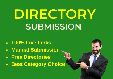 Manually 25 Live link Directory Submissions Manually on Instant Approval directories