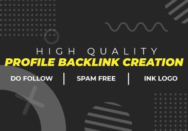 Rank your website with 40 High quality Profile Backlinks