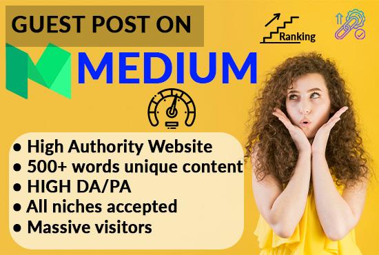 I will Write & Publish a Unique Guest Post on Medium