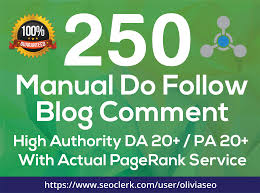Do 250 dofollow low obl blog comments backlink
