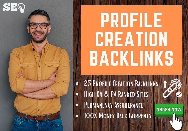 I will create authentic 25 social profile creation backlinks for your website