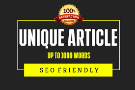 1000 words Unique Article Writing / Content Writing for your blog/website