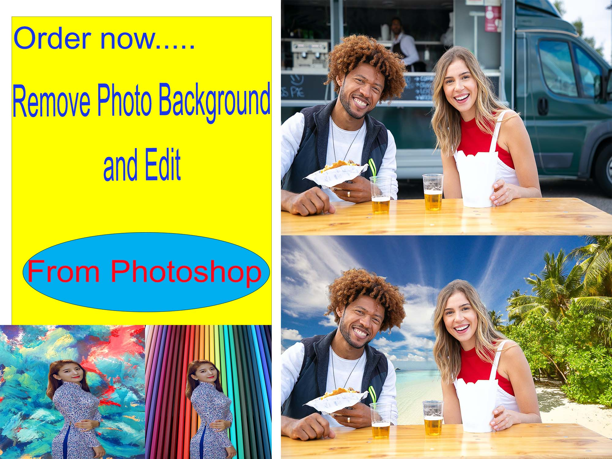 Remove Photo Background and edit photo from Photoshop within 24 Hr