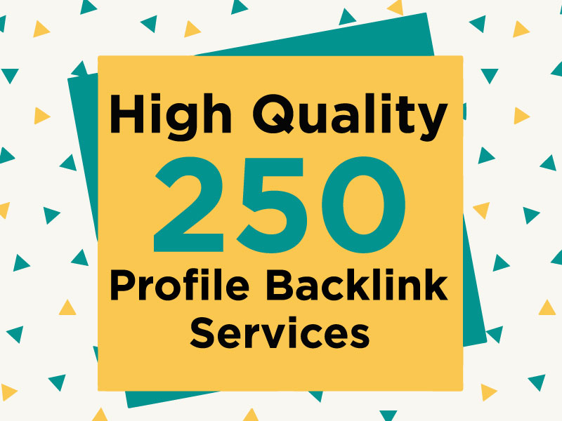 I Will Do Manually High DA 200 Profile Backlinks