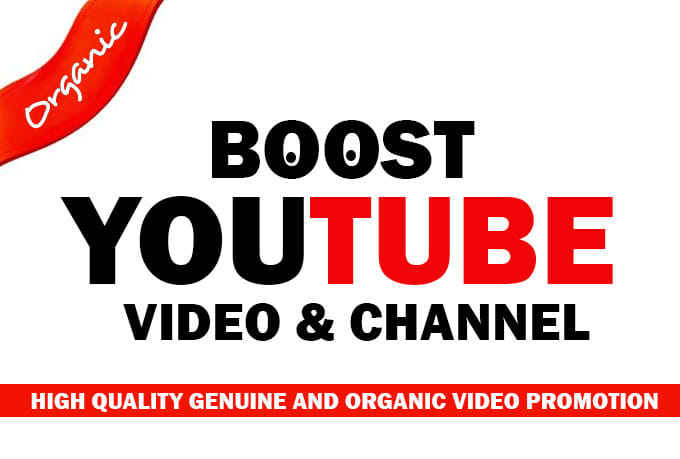 Get Youtube video promotions Package all in one organic service
