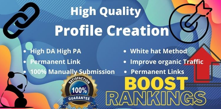 I will Create 100 High Authority Social profile creation backlinks building