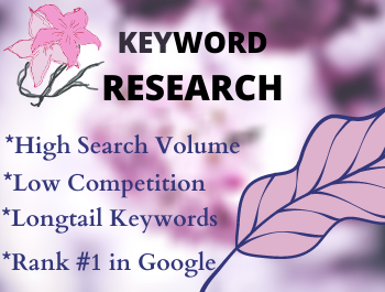 I will provide SEO 100 keyword research and competitor analysis for your site