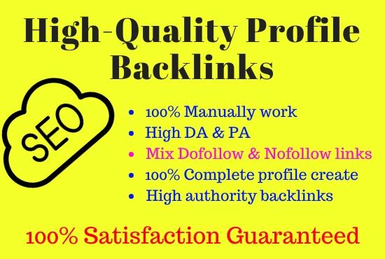 I will do 30 high DA profile creation backlinks