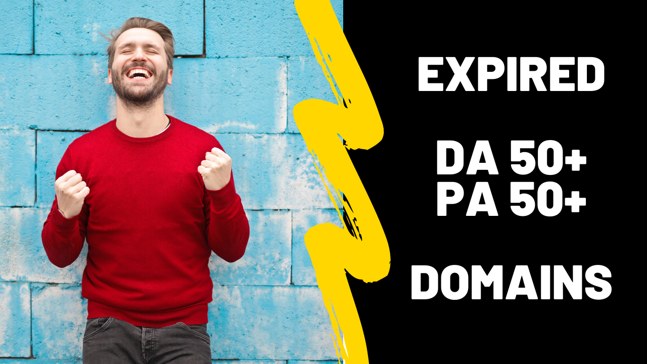I will find expired domains with high da pa 30+ in cheap